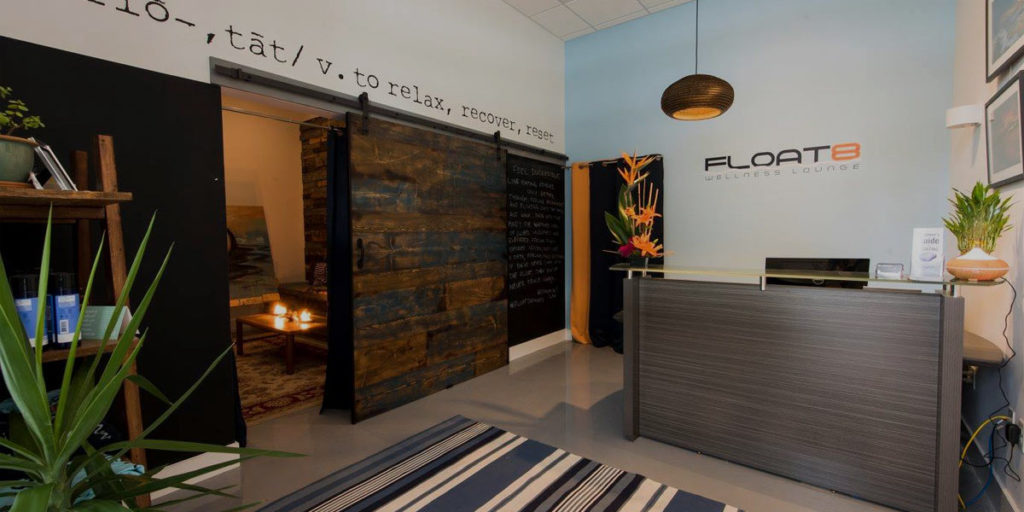 The front office of Float8 Wellness Lounge